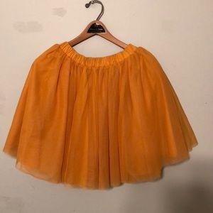 Mustard yellow Hannah Andersson girls tulle skirt!